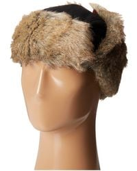 dbf25b8a91e Woolrich - Wool Blend Trapper With Faux Fur Lining (red Plaid) Caps - Lyst