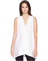 Jil Sander Navy - Sleeveless Cotton Top (white) Women's Clothing - Lyst