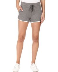 Alternative Apparel - Vintage Sport French Terry Track Shorts (vintage Coal/white) Women's Shorts - Lyst