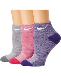 Nike - Performance Cushioned Mesh Quarter Training Socks 3-pair Pack (multicolor 3) Women's Quarter Length Socks Shoes - Lyst
