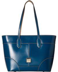 Dooney & Bourke - Selleria Tote (black/black Trim) Tote Handbags - Lyst