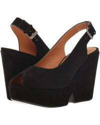 Clergerie - Dylan (black Suede) Women's Wedge Shoes - Lyst