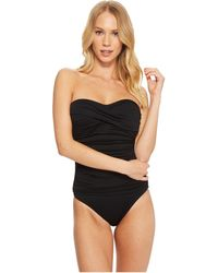 La Blanca - Island Goddess Bandeau One-piece (black) Women's Swimsuits One Piece - Lyst
