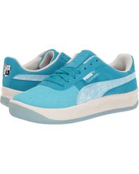 0caf6f44be5f60 PUMA - California Pool (blue Atoll caribbean Sea whisper White) Men s  Classic