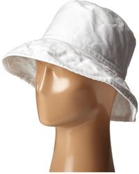 Hat Attack - Washed Cotton Crusher (white) Caps - Lyst