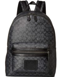 COACH - Academy Backpack In Signature Coated Canvas (beige) Backpack Bags - Lyst