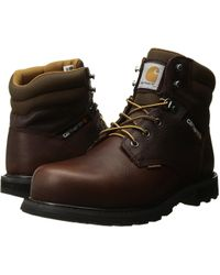 Carhartt - 6 Value Waterproof Steel Toe (brown Pebble Oil Tanned) Men's Work Boots - Lyst