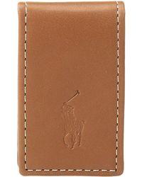 Polo Ralph Lauren - Calf Leather Money Clip - Lyst