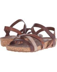 Walking Cradles - Pool (white Cashmere/cork Wrap) Women's Sandals - Lyst