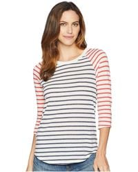 Alternative Apparel - Eco Jersey Raglan Baseball (midnight Riviera Stripe/red Riviera Stripe) Women's Clothing - Lyst