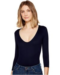 Only Hearts - Delicious 3/4 Sleeve V-neck Bodysuit - Lyst
