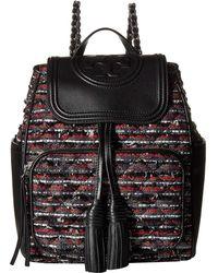 Tory Burch - Fleming Tweed Backpack Bag - Lyst