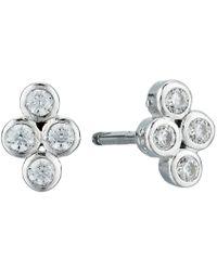 Shashi - Noa Stud Earrings (white/gold/crystal) Earring - Lyst