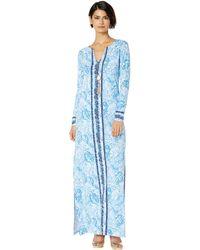e75aafb1f68 Lilly Pulitzer - Upf 50+ Faye Maxi Dress (blue Peri Turtley Awesome Engineered  Maxi
