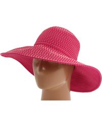 San Diego Hat Company - Rbl205 Ribbon Crusher Hat With Ticking Sun Hat (fuchsia) Traditional Hats - Lyst