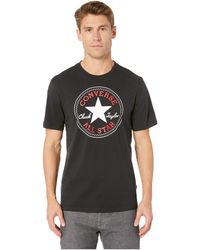46654b0d790a Converse - Chuck Patch Tee (vintage Grey Heather 2) Men s Short Sleeve  Pullover -