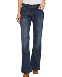 Stetson - Pieced Back Pocket W/ Jagged Edge Detail (blue) Women's Jeans - Lyst