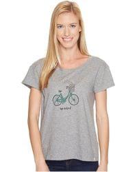 Life Is Good. - Heart Basket Breezy Tee (heather Gray) Women's T Shirt - Lyst