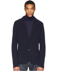 Eleventy - Two-button Sweater Jacket (navy) Men's Coat - Lyst