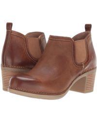 608d91671262 Dansko - Harlene (black Waxy Burnished) Women s Clog Shoes - Lyst