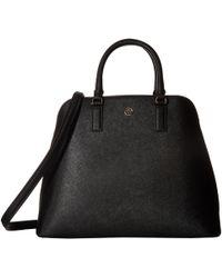 Tory Burch - Robinson Dome Satchel (black) Satchel Handbags - Lyst