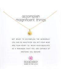 "Dogeared - Accomplish Magnificent Things Necklace 16"" - Lyst"