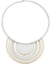 Robert Lee Morris Two-tone Round Wire Pendant Necklace - Metallic