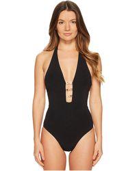 Tory Burch - Gemini Link Plunge One-piece (black) Women's Swimsuits One Piece - Lyst