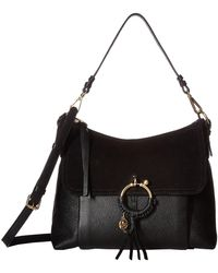 See By Chloé - Medium Joan Suede & Leather Shoulder Bag - Lyst