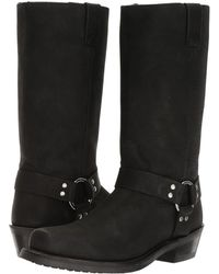Old West Boots - Harness Boot (black Distressed) Cowboy Boots - Lyst