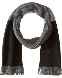 BOSS - Color Block Scarf (black) Scarves - Lyst