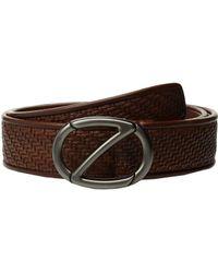 Z Zegna - Fixed Woven Belt Bpsmm3 (vicuna) Men's Belts - Lyst