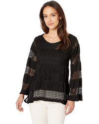 Nally & Millie - Lace Trapeze Top (black) Women's Clothing - Lyst