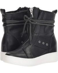Steve Madden - Anton Wedge Sneaker (black Leather) Women's Shoes - Lyst