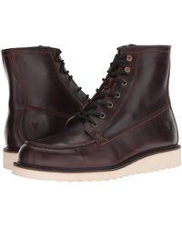 Frye - Dawson Wedge Workboot (redwood Smooth Pull-up) Men's Boots - Lyst