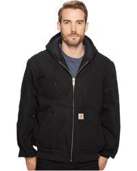 Carhartt - Qfl Duck Active Jacket (dark Navy) Men's Coat - Lyst