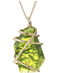 Robert Lee Morris - Caged Stone Pendant Necklace (olivine) Necklace - Lyst