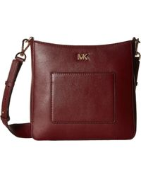 MICHAEL Michael Kors - Gloria Pocket Swing Pack (oxblood) Bags - Lyst