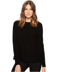 Vince - Directional Rib Pullover (black) Women's Sweater - Lyst