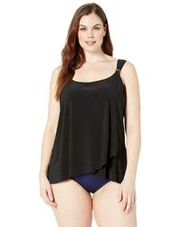 6b0cf996da6a1 Miraclesuit Sublime Feline Dazzle Tankini Top in Brown - Save 40% - Lyst