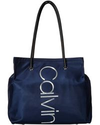 Calvin Klein - Mallory Nylon Tote (navy) Tote Handbags - Lyst