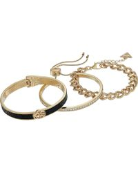 Guess - Three-piece Bracelet Set - One Hinge, One Slider And One Link - Lyst