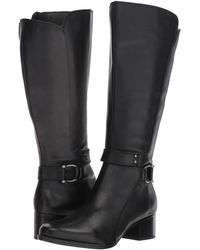Naturalizer - Dane Wide Calf (light Maple Leather) Women's Boots - Lyst