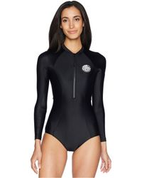 Rip Curl - G Bomb Long Sleeve Uv Surfsuit (black/white) Women's Wetsuits One Piece - Lyst