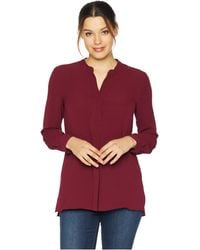 Vince Camuto - Long Sleeve Soft Texture Henley Tunic (manor Red) Women's Blouse - Lyst