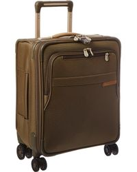 Briggs & Riley - Baseline Commuter Expandable Spinner (olive) Luggage - Lyst