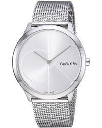 Calvin Klein - Minimal Watch - K3m2112z (silver) Watches - Lyst