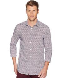 Perry Ellis - Slim Fit Print Stretch Shirt (dark Sapphire) Men's Clothing - Lyst