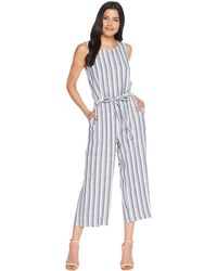 f61afdcf891 Two By Vince Camuto - Sleeveless Shore Linen Stripe Belted Jumpsuit (ultra  White) Women s