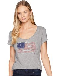 Life Is Good. - Peace Love Flag Smooth T-shirt (heather Gray) Women's T Shirt - Lyst